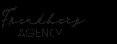 Frendberg Agency logotyp skrivet transparent bakgrund